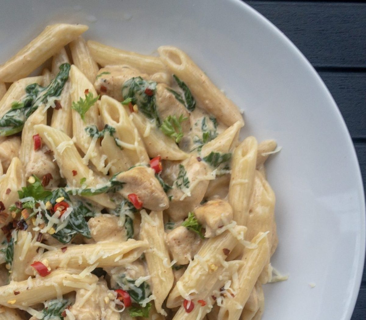 Creamy Cajun Chicken and Spinach Pasta