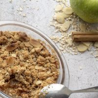 Gluten Free Apple and Cinnamon Crumble