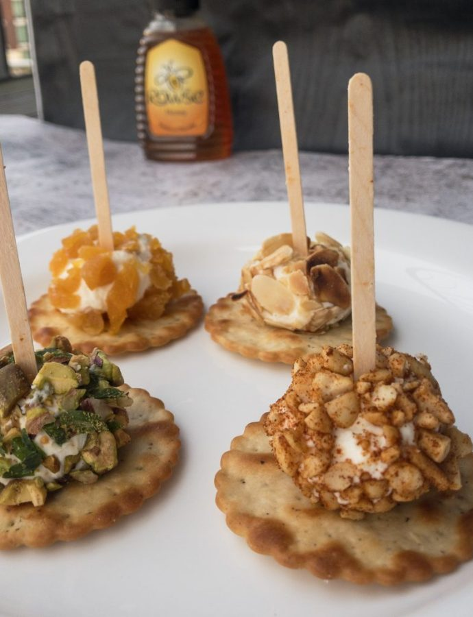 Goat's Cheese and Honey Appetizers