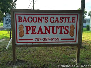 bacon's castle peanuts, peanuts surry virginia