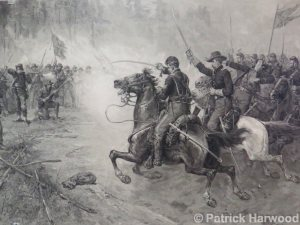 five forks battle mural, civil war romiyo
