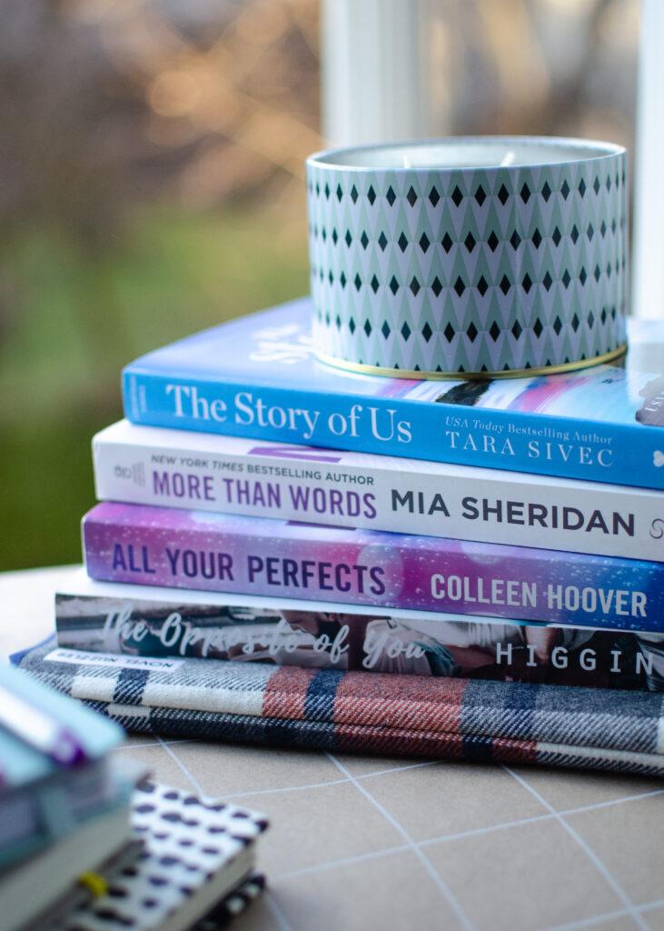 bookstagram, romance, books, romance schmomance, candle, book sleeve