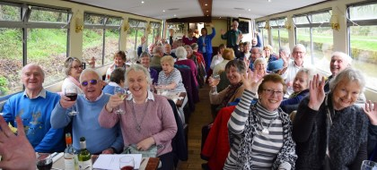 The Friends Canal trip on the Kennet and Avon Canal, from Bradford-on-Avon to Bath, April 2018