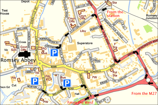 Street map of Romsey