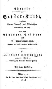 Possible Source: Theorie der Geisterkunde, 1808