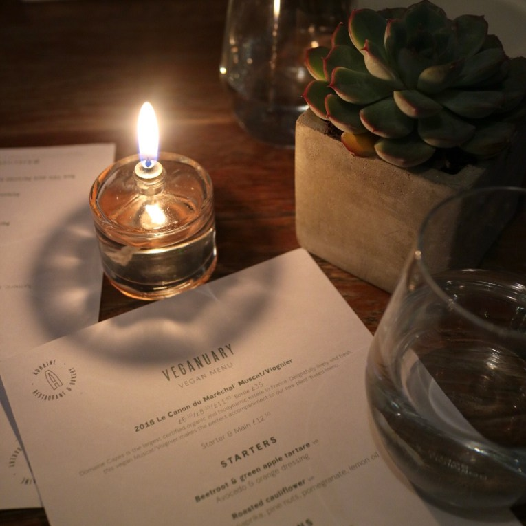 Aubaine Kensington Veganuary Menu