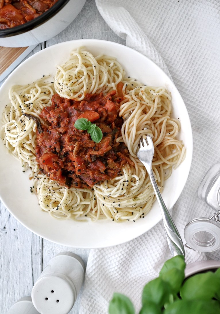 Meaty Vegan Spaghetti Bolognese Romy London