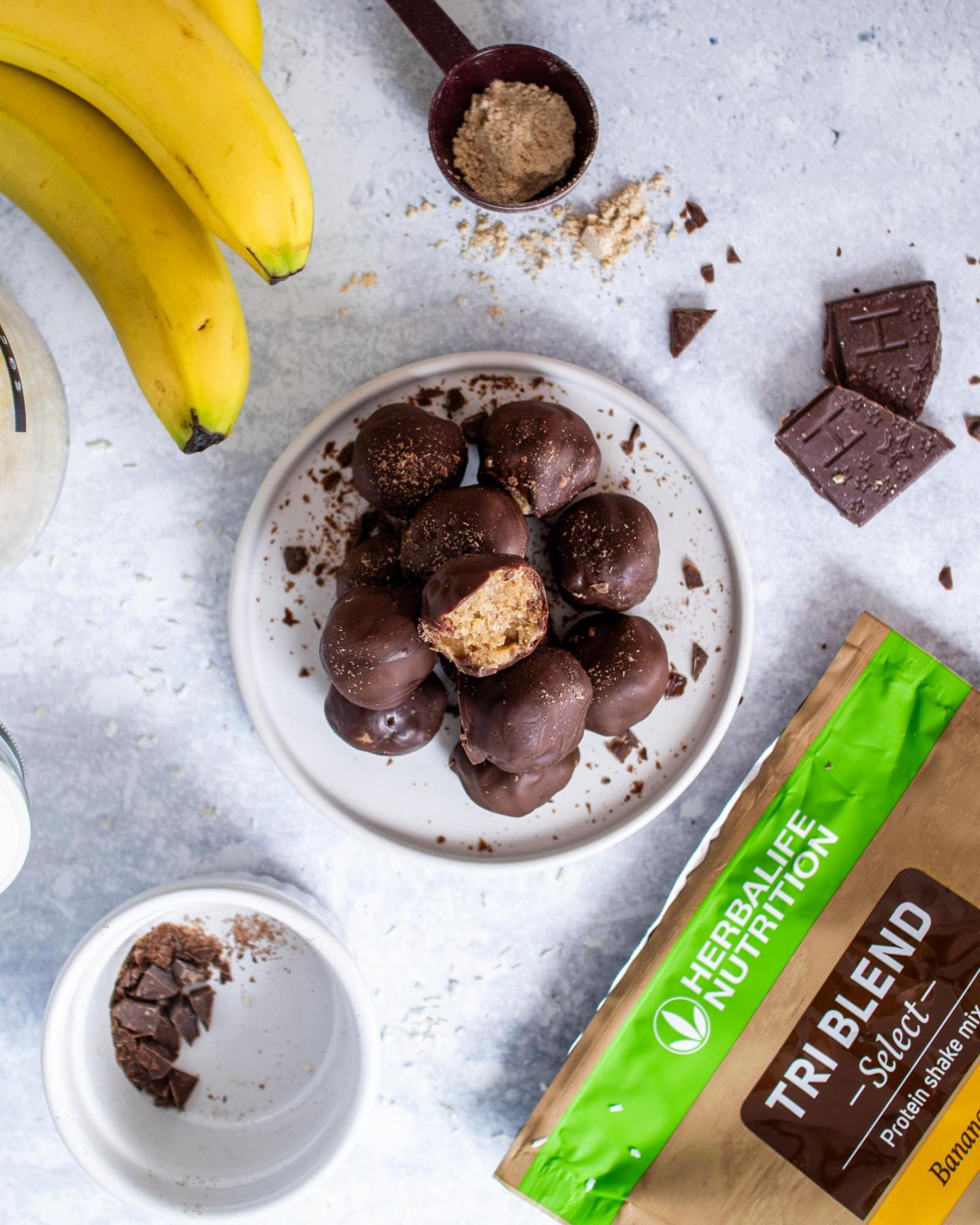 Vegan Protein Cookie Dough Truffles