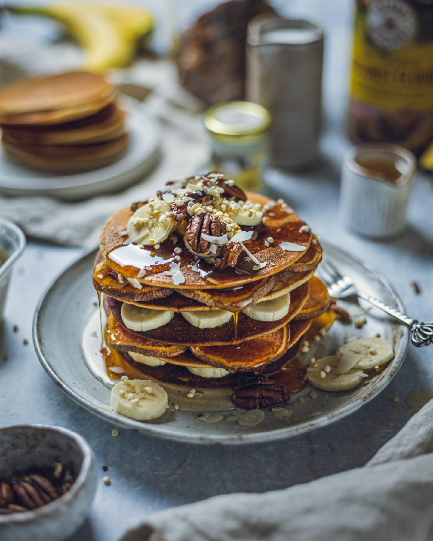 Easy Coconut Pancakes (Vegan & Gluten Free)
