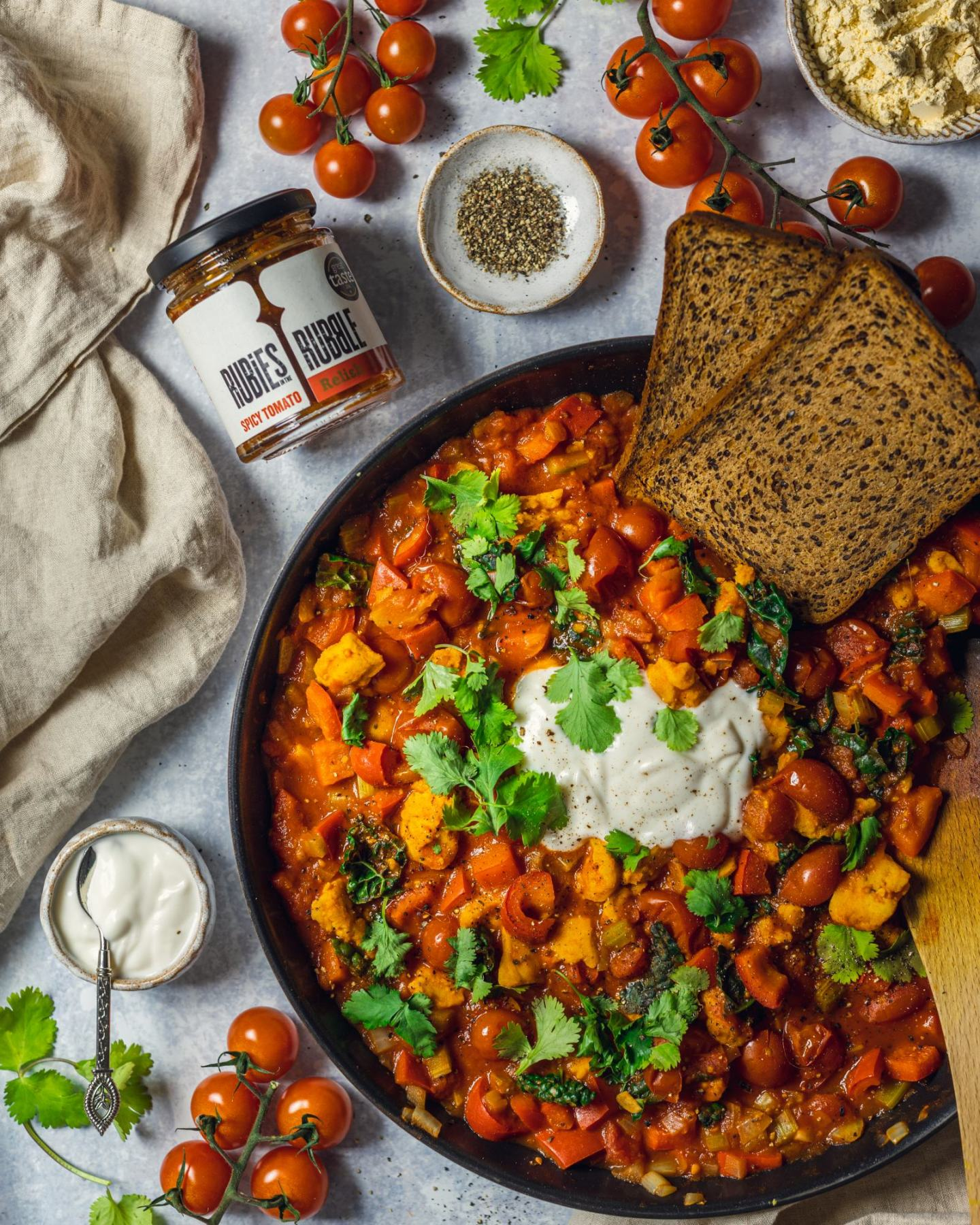 Easy Vegan Shakshuka (No Tofu)