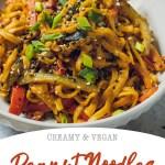 Vegan Peanut Noodles Recipe