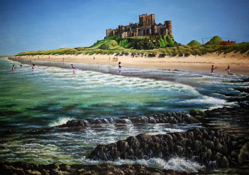 Bamburgh Castle Painting