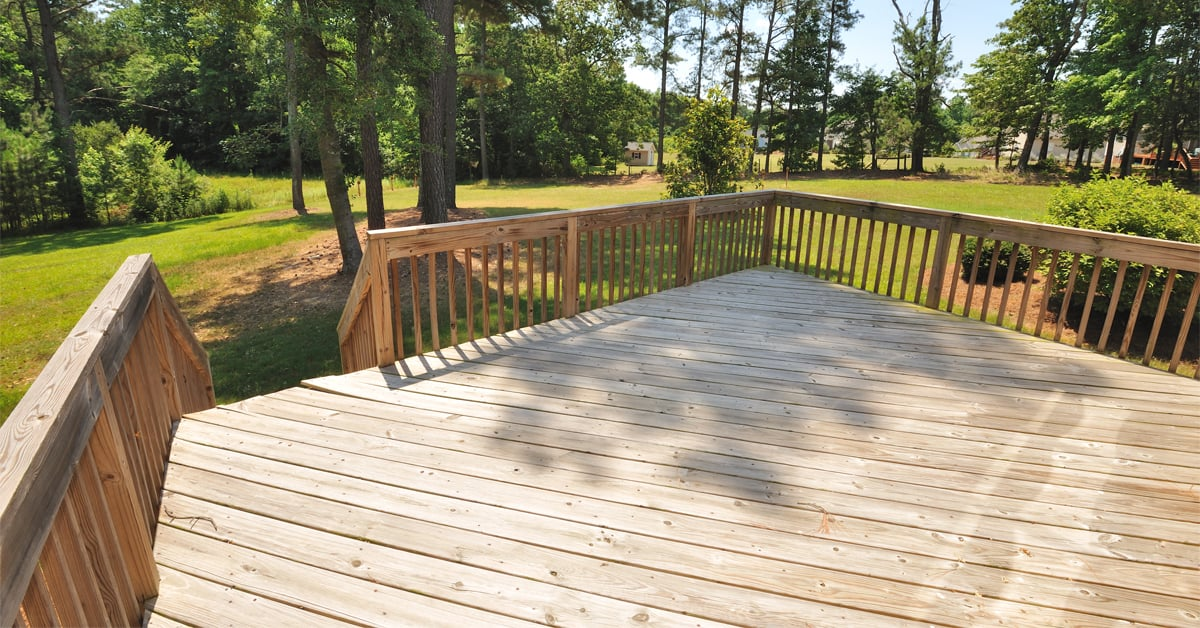build a one level deck rona