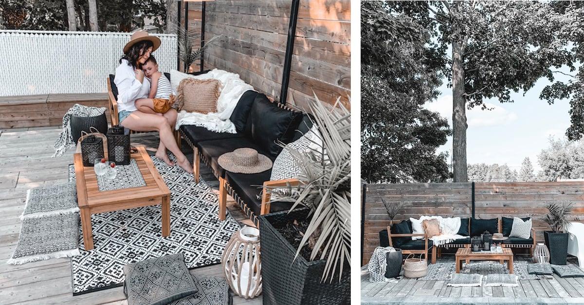 a cozy bohemian patio rona