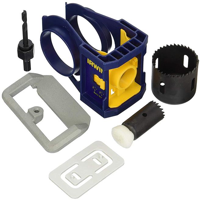 Steel Door Lock Installation Kit Blue RONA
