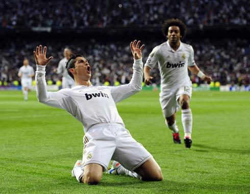 Cristiano Ronaldo's claw celebration for Real Madrid