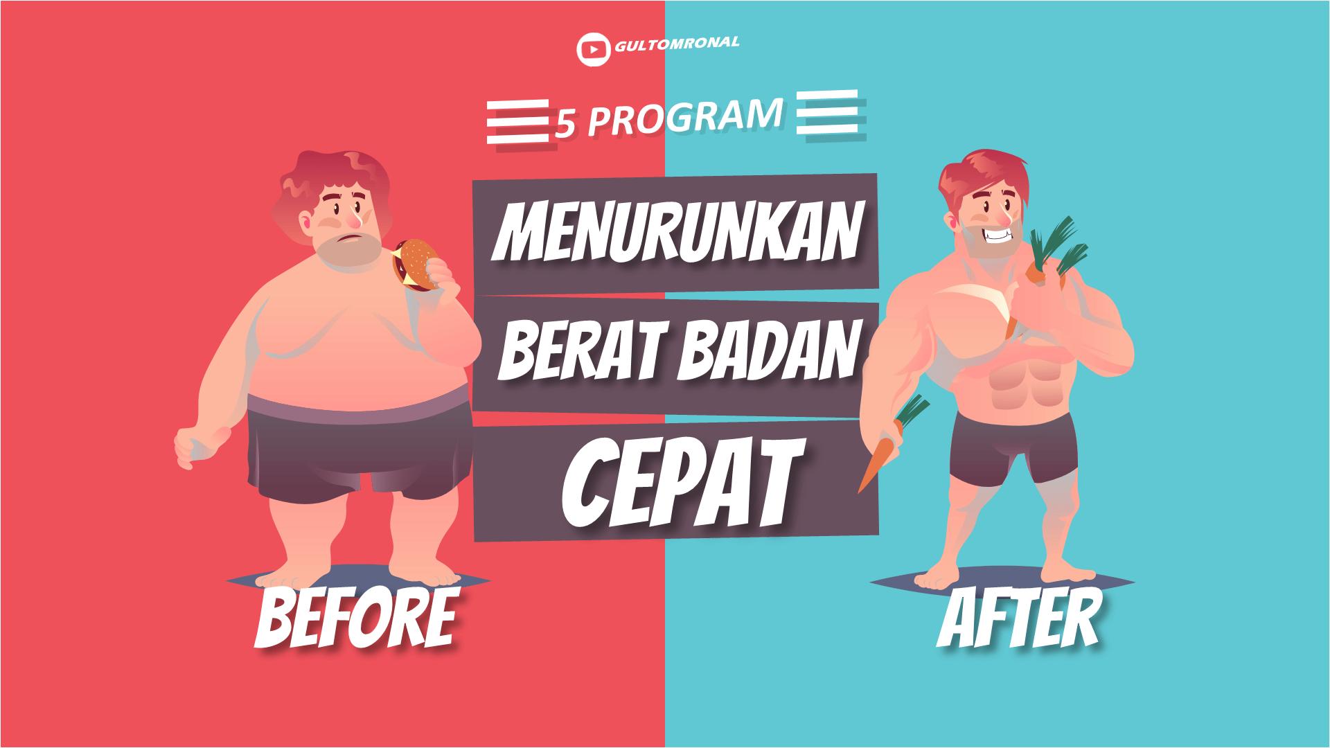 5 Program Menurunkan  Berat badan Dengan Cepat