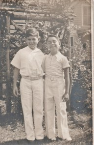 My father at nine years old (left) and his cousin Marty; the inspiration for Jake and the Adventures of Ed Lightning