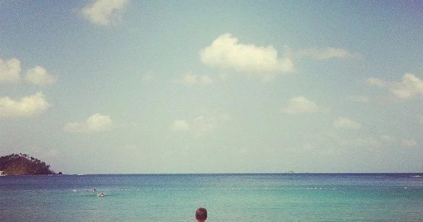 Like the disciples, a child gazes at the sea