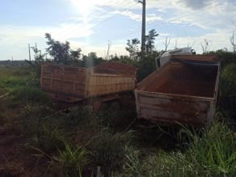 FORTE BATIDA: Grave acidente entre duas caçambas deixa três pessoas feridas na BR-364