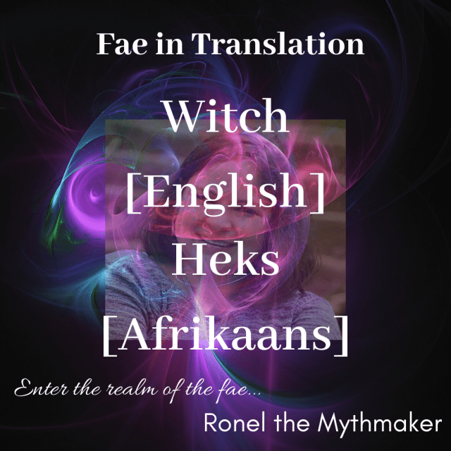 witch English Afrikaans