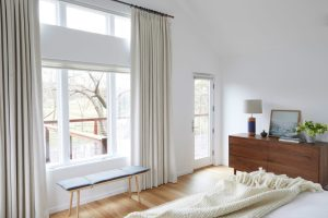 Master Bedroom terrace linen drapery
