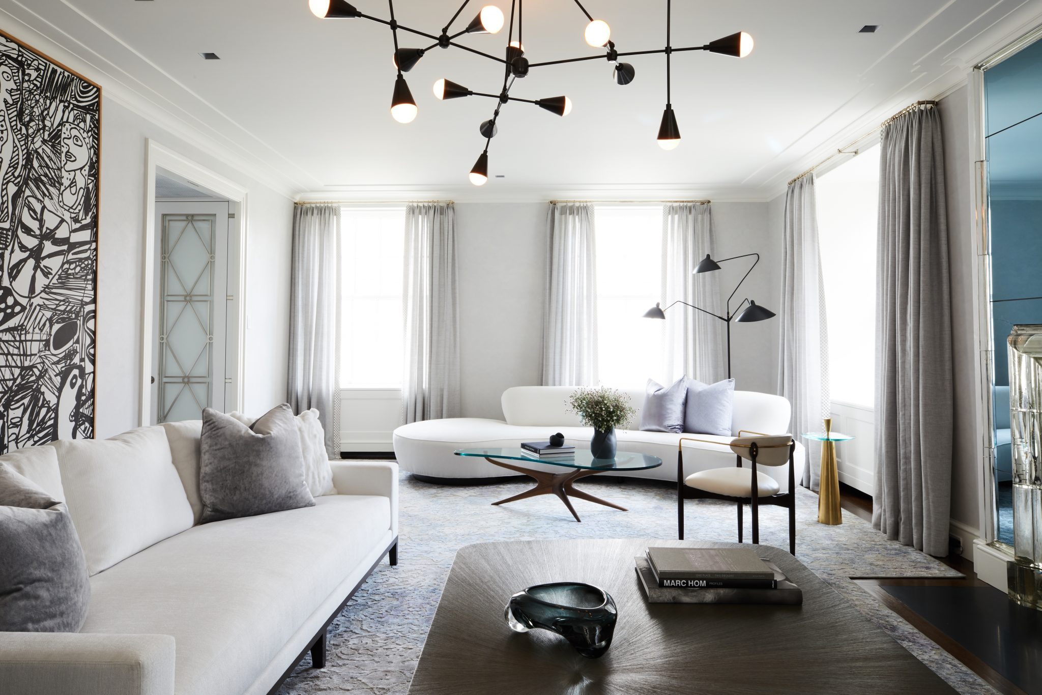 Formal Living Room With Modern Accent Pieces Park Avenue Apartment. ...
