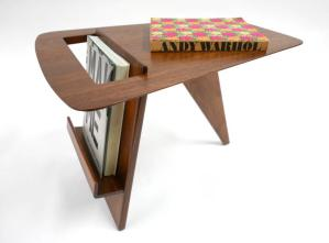 Jens Risom 1950's magazine side table