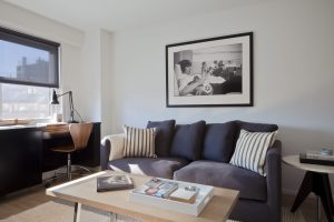 Studio Apartment Living Room Built In Desk