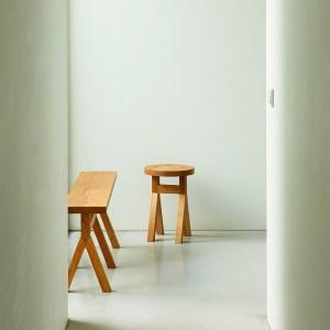 commune wooden bench