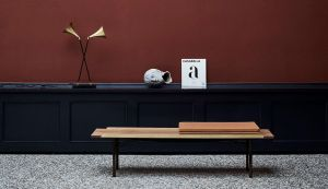 Finn Juhl wooden bench