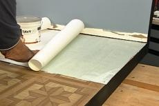 how to install ceramic tile over vinyl