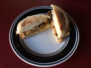 Chicken Sausage Breakfast Sandwich