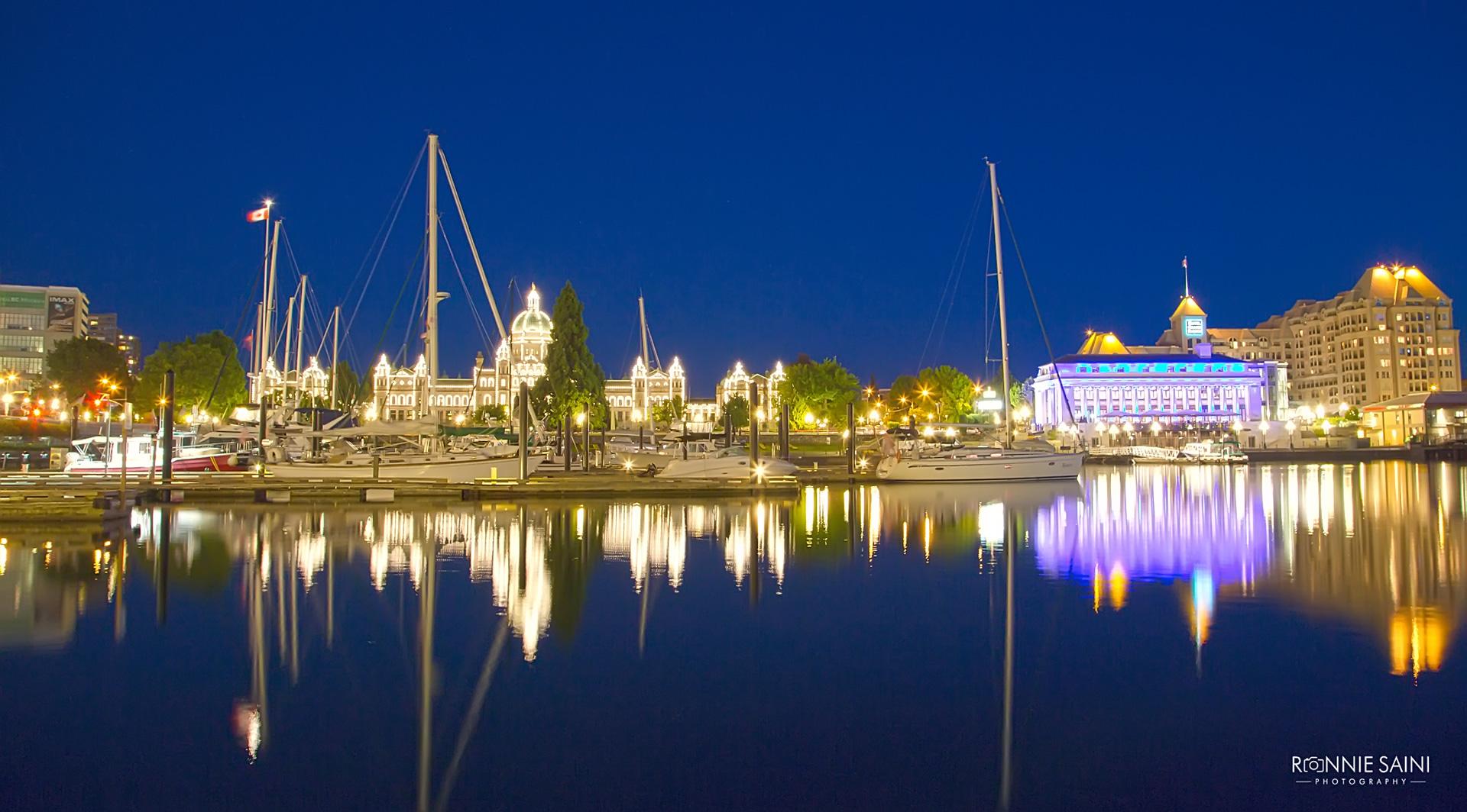 Victoria British Columbia Vancouver Canada Night