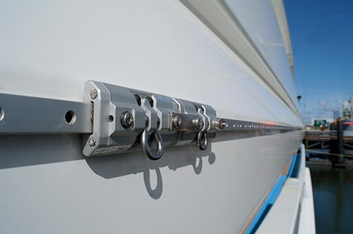Safety Rail System As Installed On A Yacht