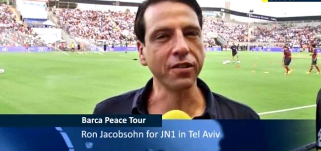 Ron Jacobsohn Attends the FC Barcelona Peace Tour