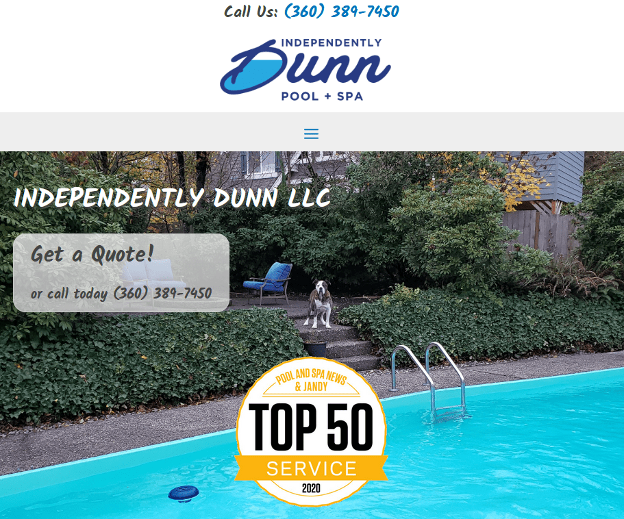 Independently Dunn Pool and Spa website revamp