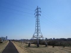 鉄塔に見とれる