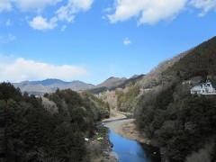 神代橋からの眺め(上流)