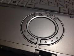 これは自宅のパソコンのタッチパッド