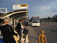 市内中心部行きバスが来た