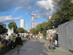 賑やかな公園