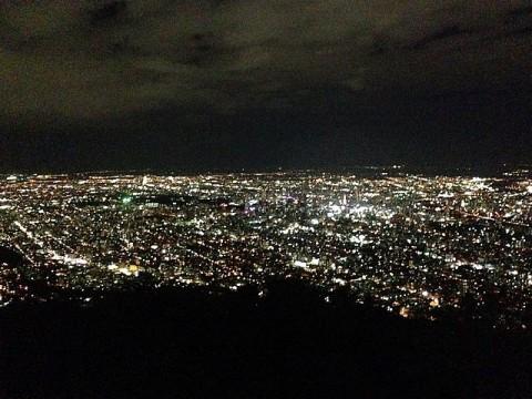 素晴らしい札幌市内の夜景