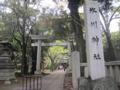 すぐ脇に氷川神社