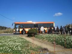 帰りのバスも混雑…