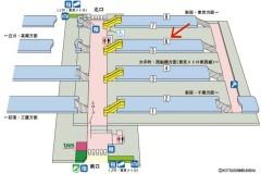 中野駅構内案内図