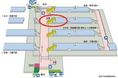 階段に注目…中野駅はホームから見て階段は市下へ