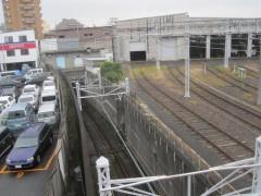 西馬込駅から基地へ向かう線路