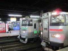 ずらりと並んだ列車たち