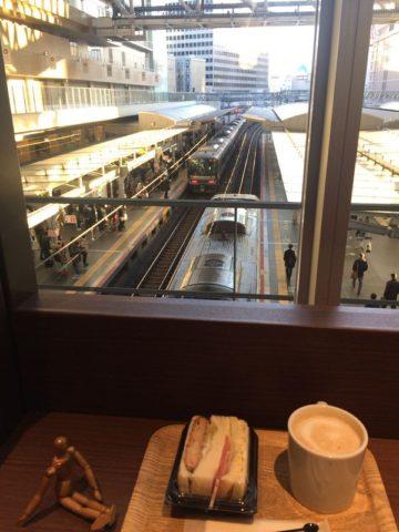 主に京都方面行き電車が見えた